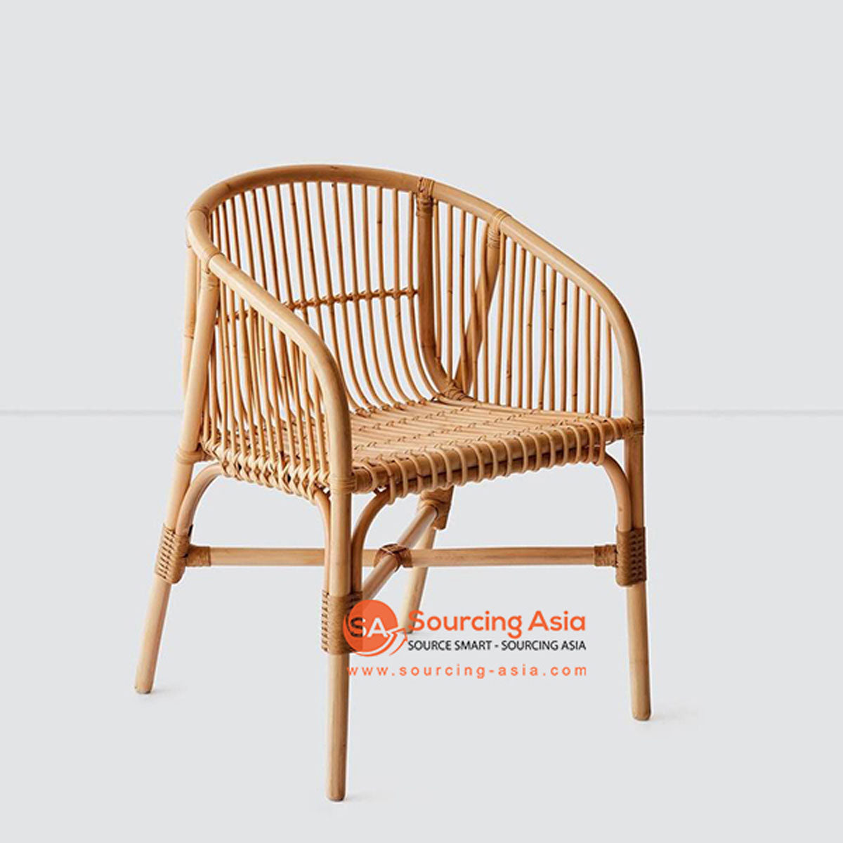 SHL113 NATURAL RATTAN UPHOLSTERED ARMCHAIR