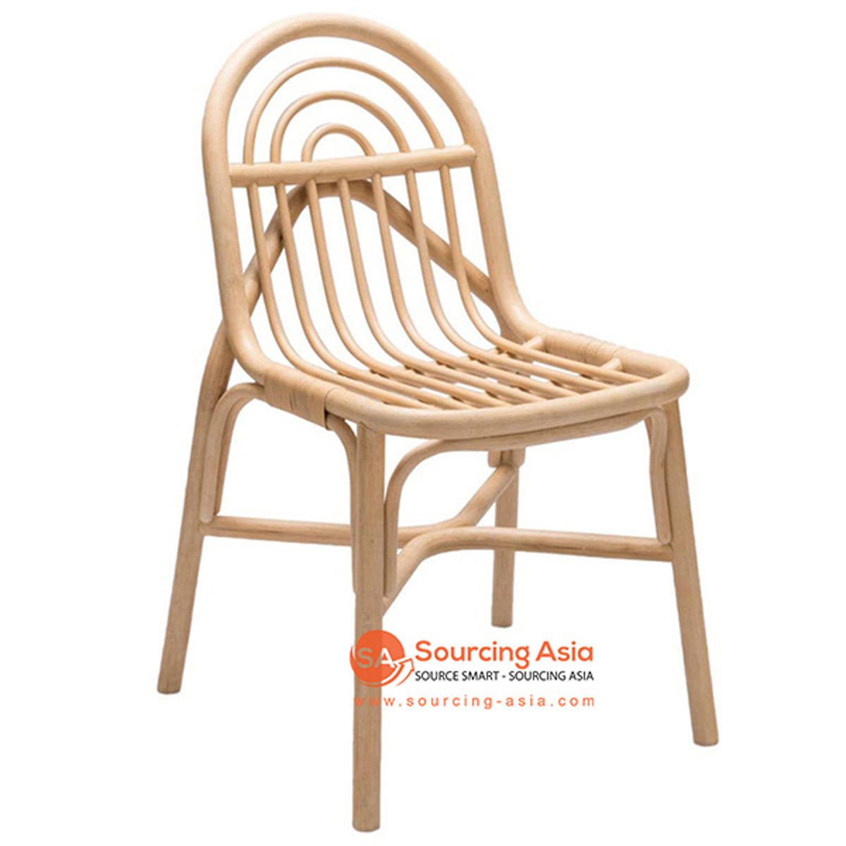 SHL114 NATURAL RATTAN UPHOLSTERED CHAIR