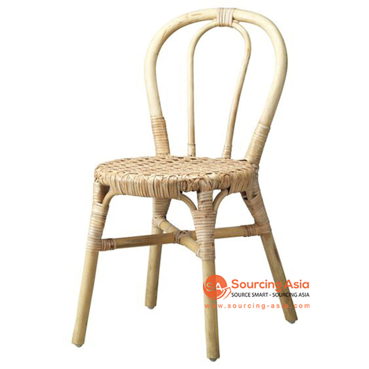 SHL115 NATURAL RATTAN UPHOLSTERED CHAIR