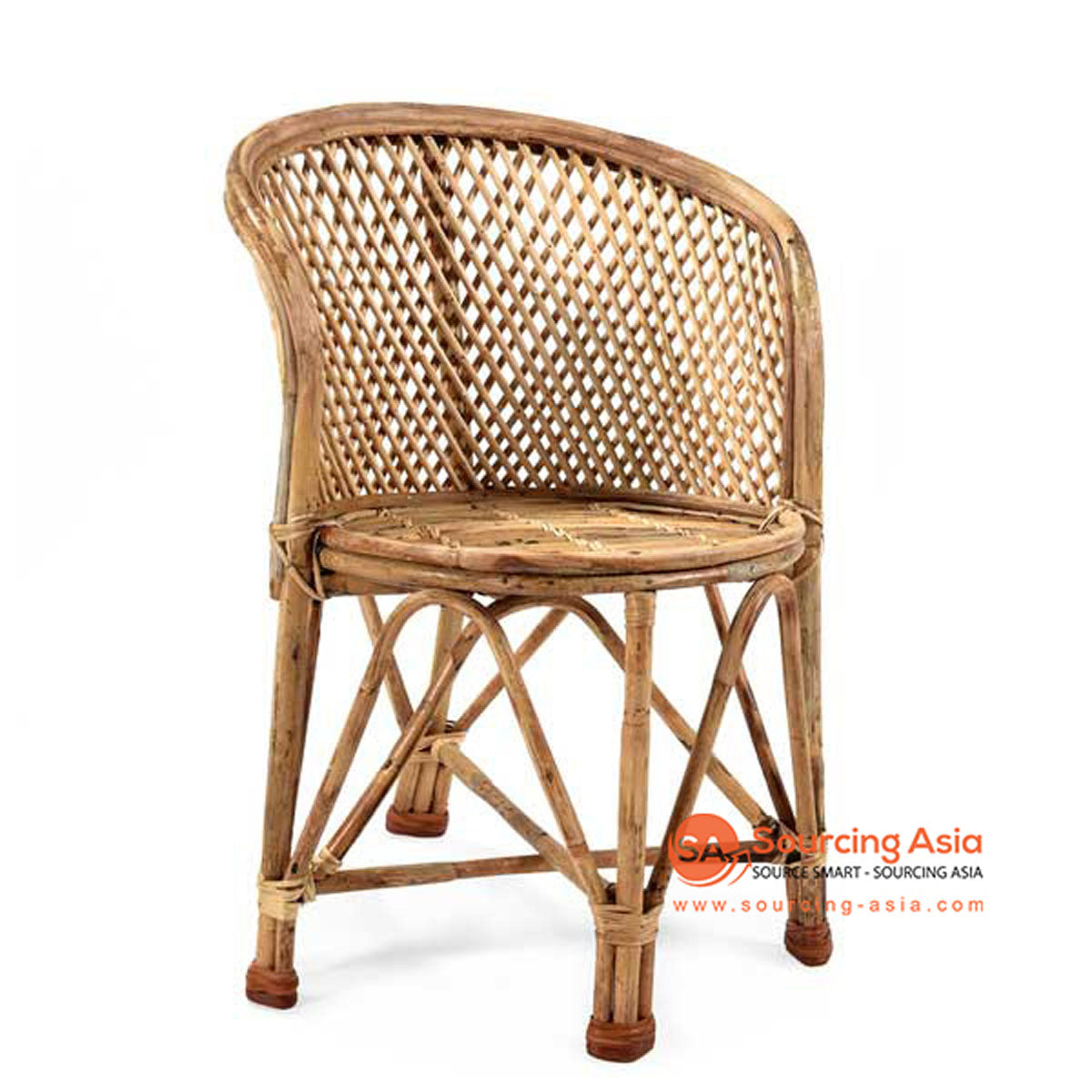 SHL116 NATURAL RATTAN UPHOLSTERED ARMCHAIR