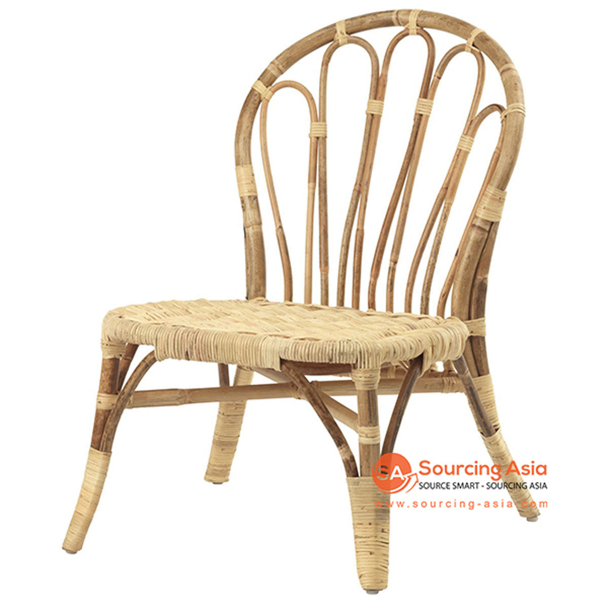 SHL117 NATURAL RATTAN UPHOLSTERED CHAIR