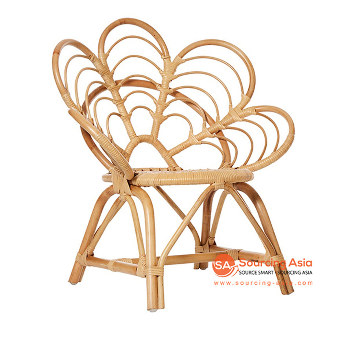 SHL120 NATURAL RATTAN PEACOCK DESIGN UPHOLSTERED CHAIR