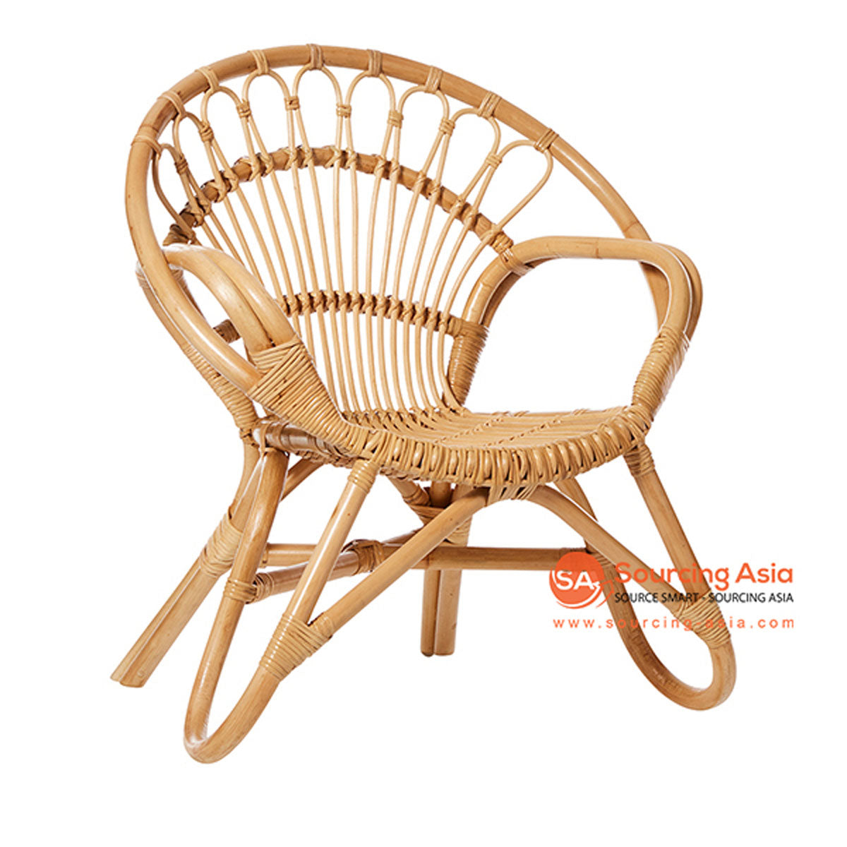 SHL121 NATURAL RATTAN DECORATIVE UPHOLSTERED CHAIR