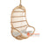 SHL123 NATURAL RATTAN UPHOLSTERED HANGING CHAIR