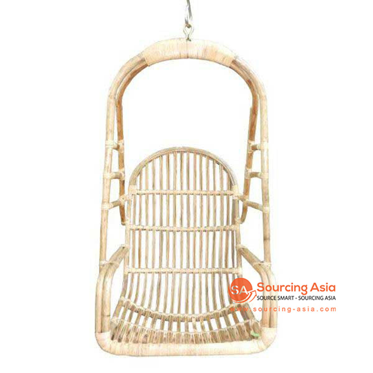 SHL124 NATURAL RATTAN UPHOLSTERED HANGING CHAIR
