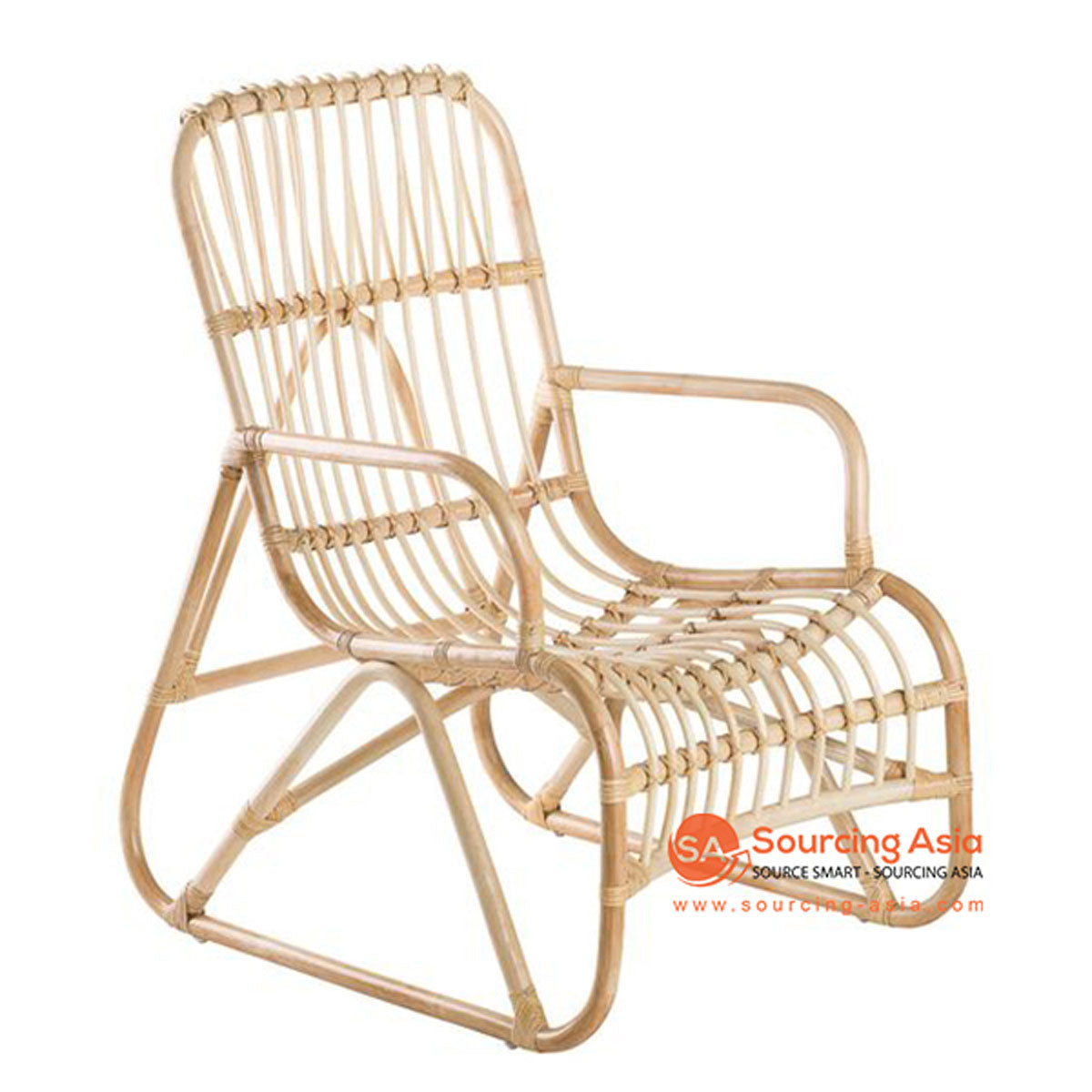 SHL131 NATURAL RATTAN UPHOLSTERED ARMCHAIR