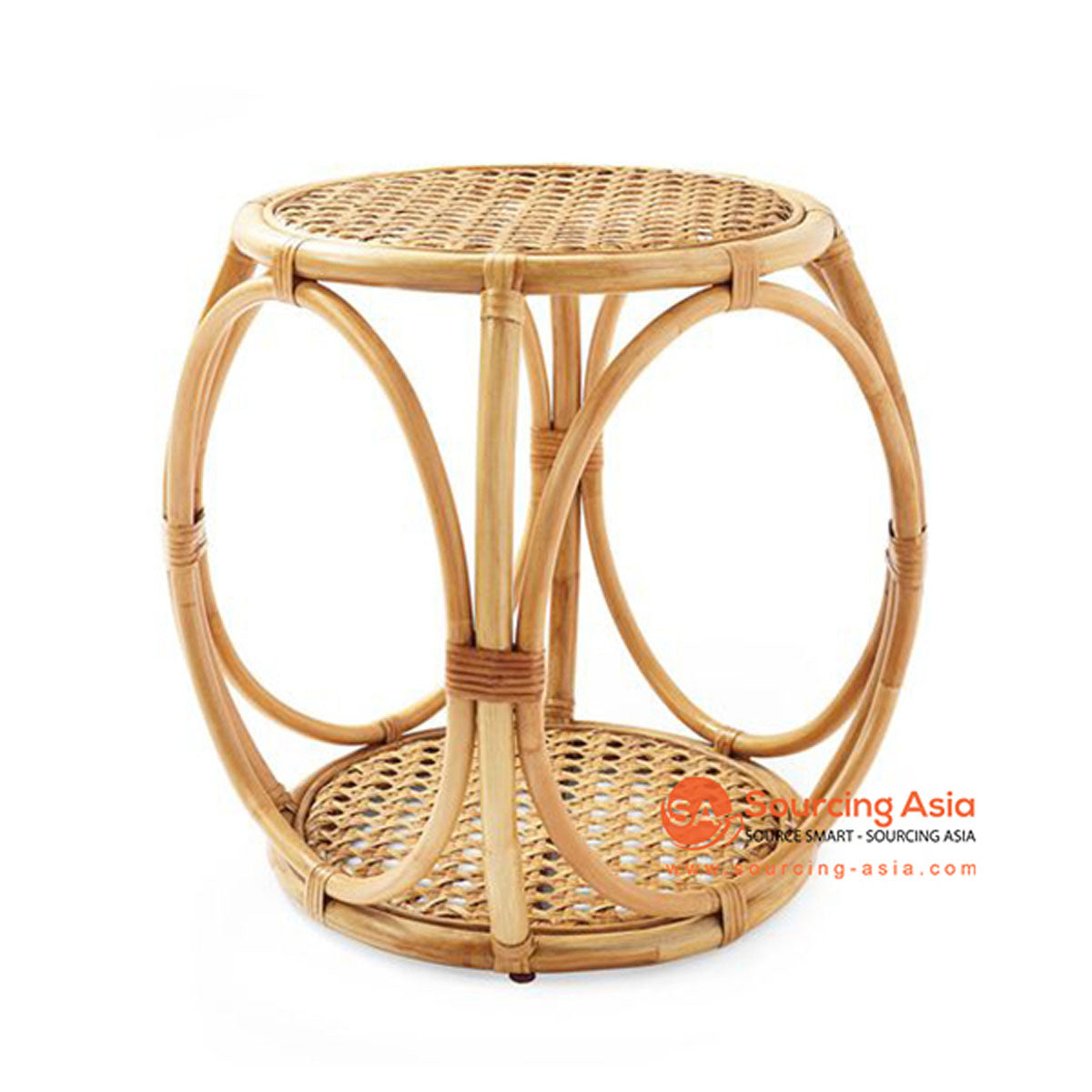 SHL160 NATURAL RATTAN DECORATIVE TABLE WITH ROUND TOP
