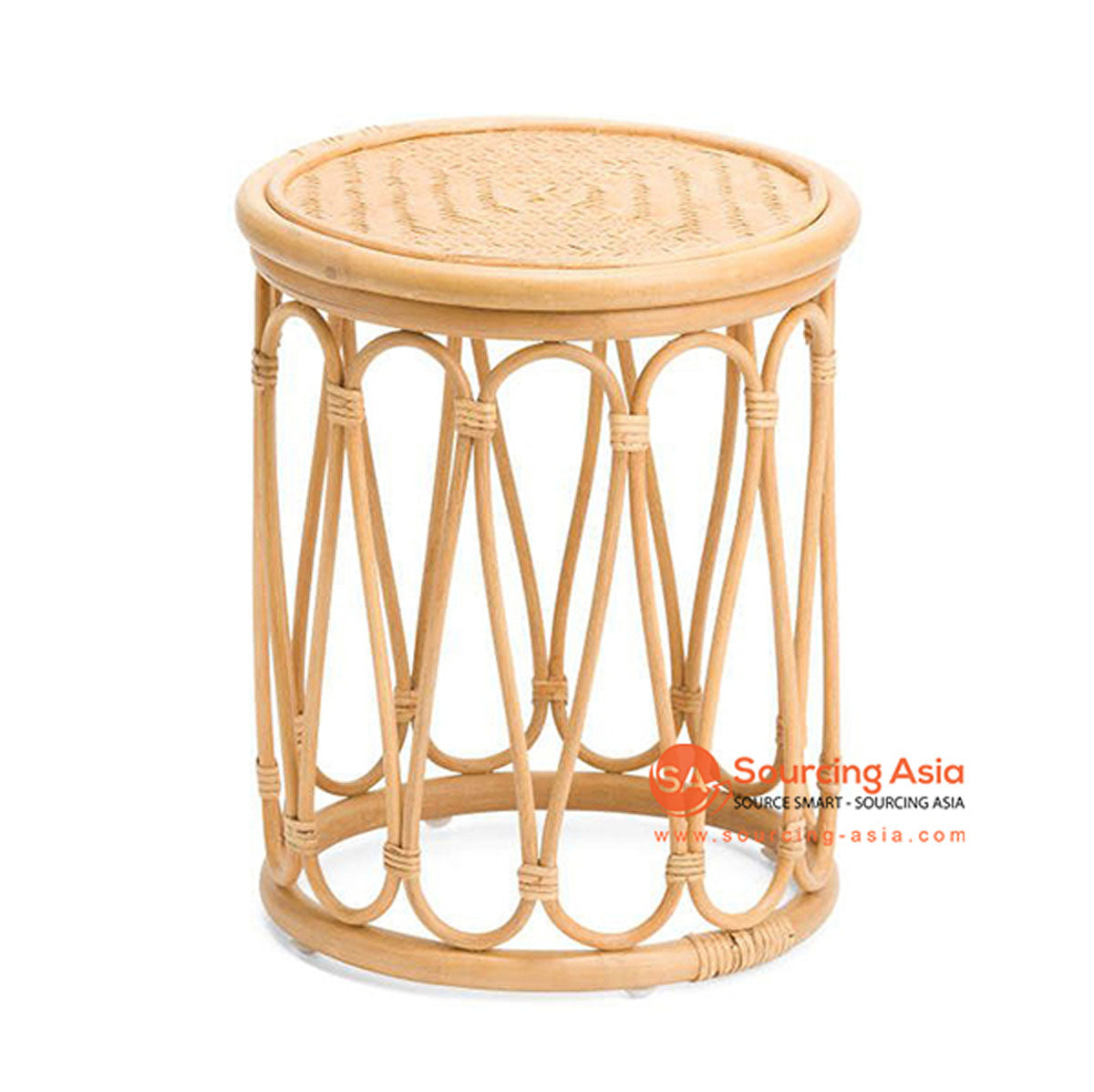 SHL162 NATURAL RATTAN DECORATIVE TABLE WITH ROUND TOP