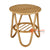 SHL163 NATURAL RATTAN DECORATIVE TABLE WITH ROUND TOP AND MAGAZINE SHELF