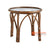 SHL164 NATURAL RATTAN DECORATIVE TABLE WITH ROUND TOP AND INSERTED GLASS