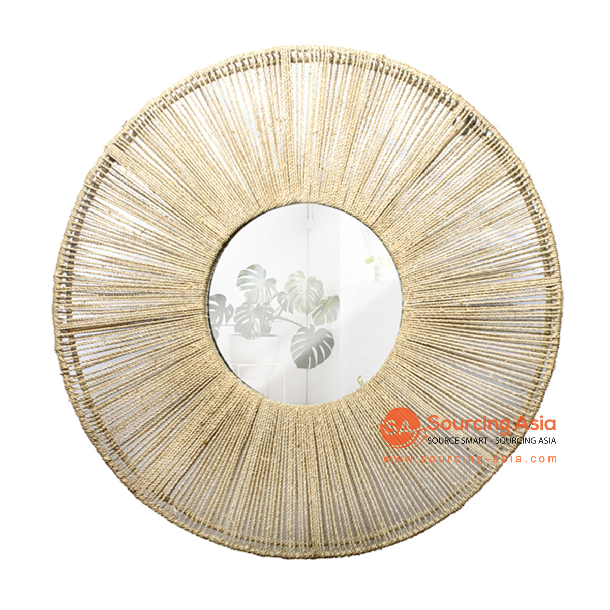 SHL172-3 NATURAL ROUND AGEL MIRROR