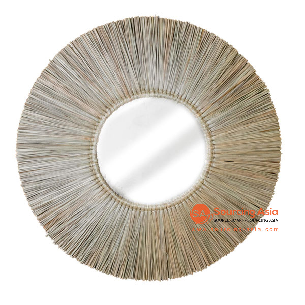 SHL172-5 NATURAL ROUND MENDONG MIRROR