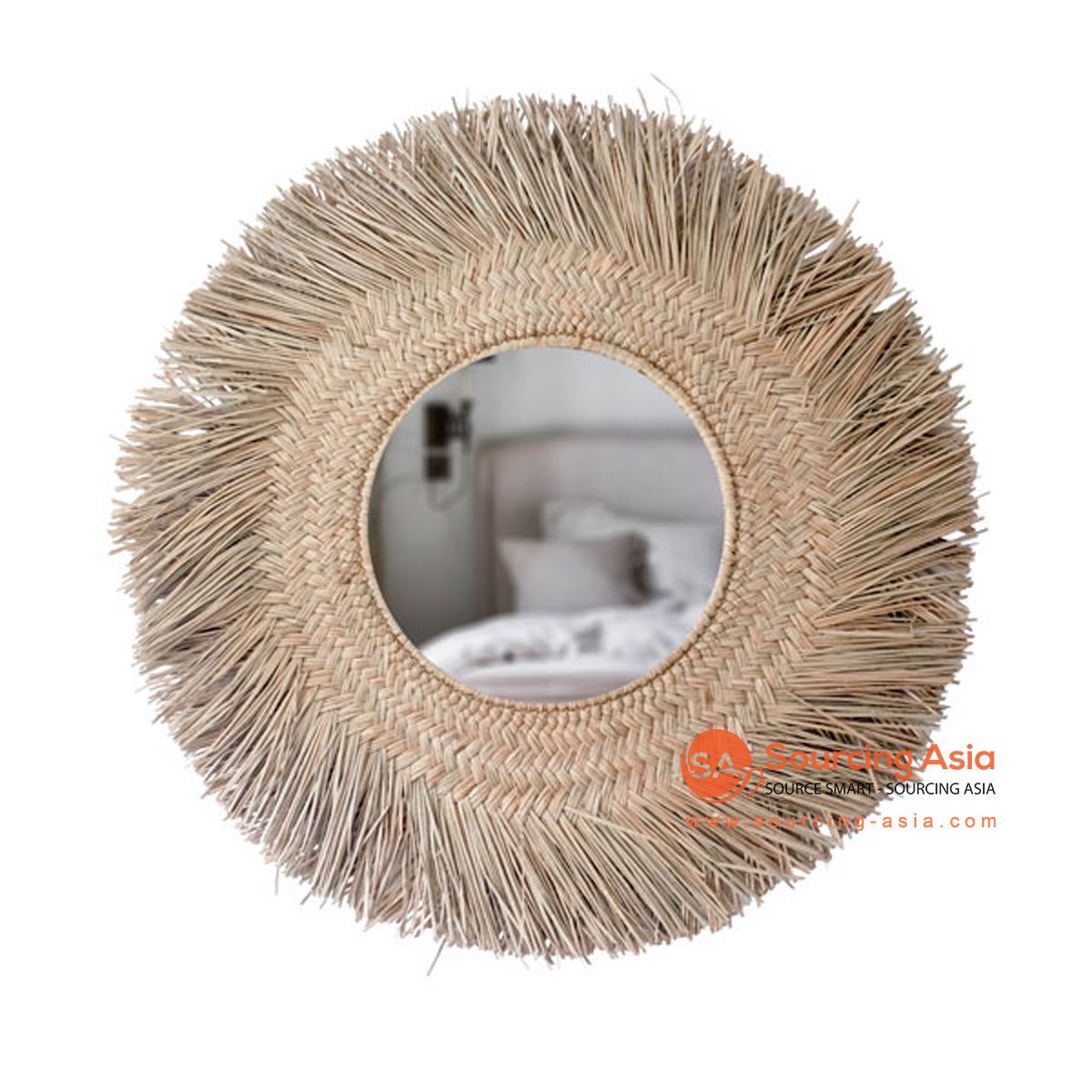 SHL172 NATURAL ROUND MENDONG MIRROR