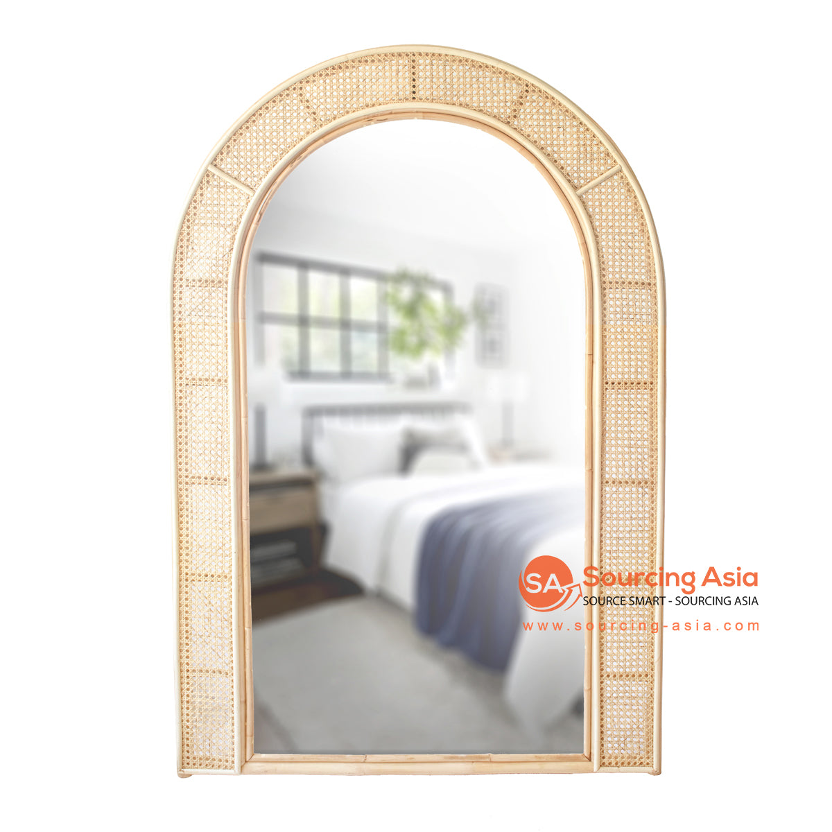 SHL173-3 NATURAL RATTAN MIRROR