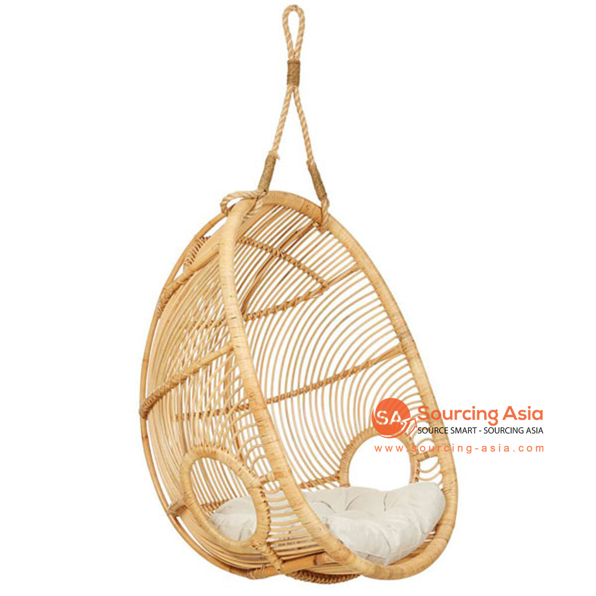 SHL175-1 NATURAL RATTAN HANGING CHAIR