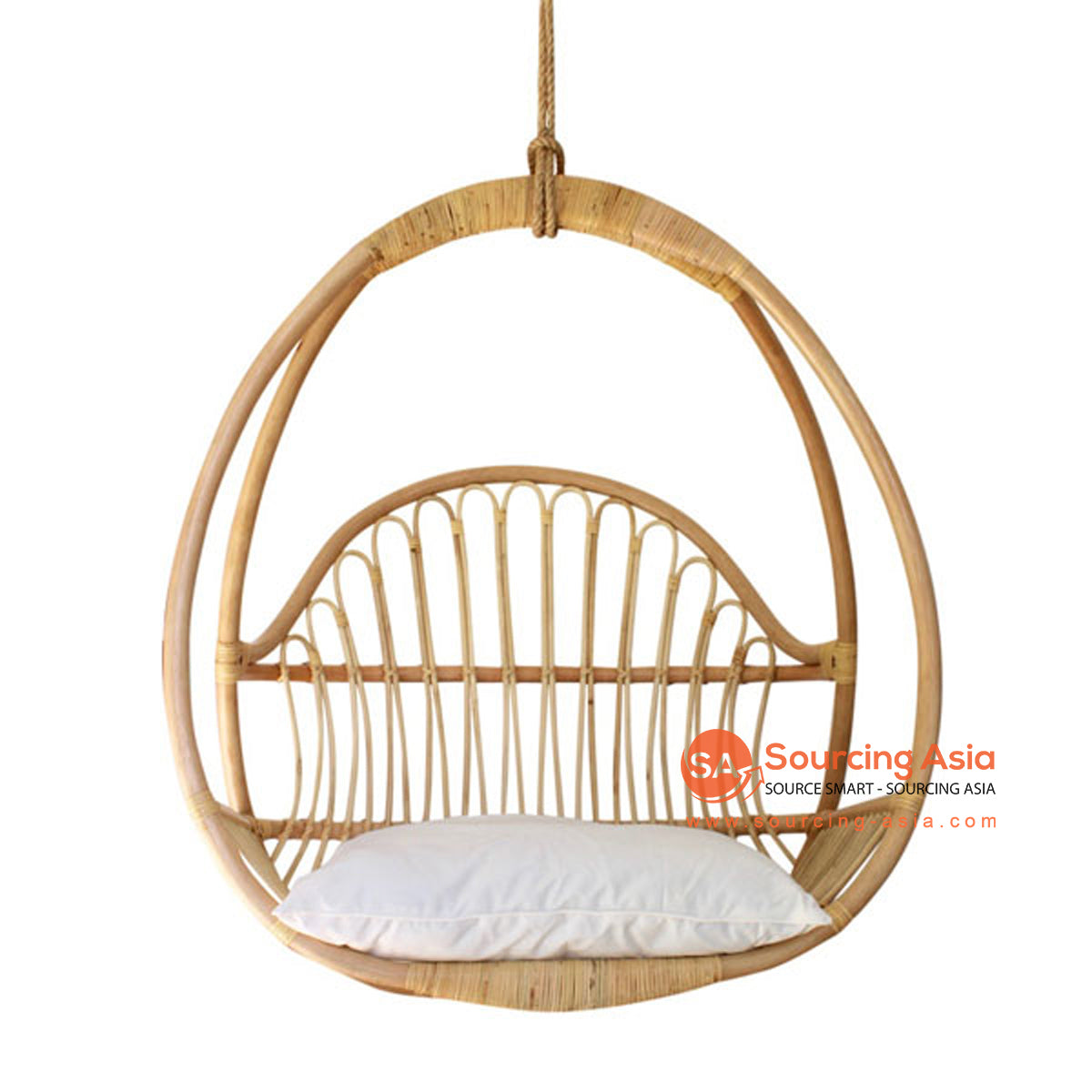 SHL175-2 NATURAL RATTAN HANGING CHAIR