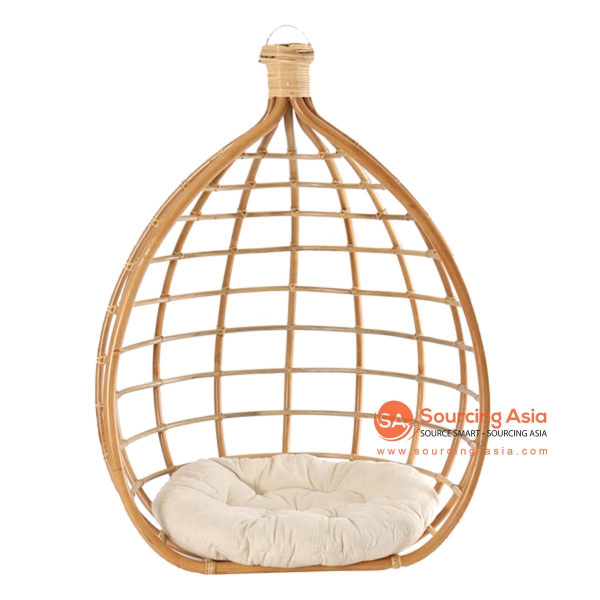 SHL175-3 NATURAL RATTAN HANGING CHAIR