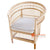 SHL176 NATURAL RATTAN OCCASIONAL CHAIR