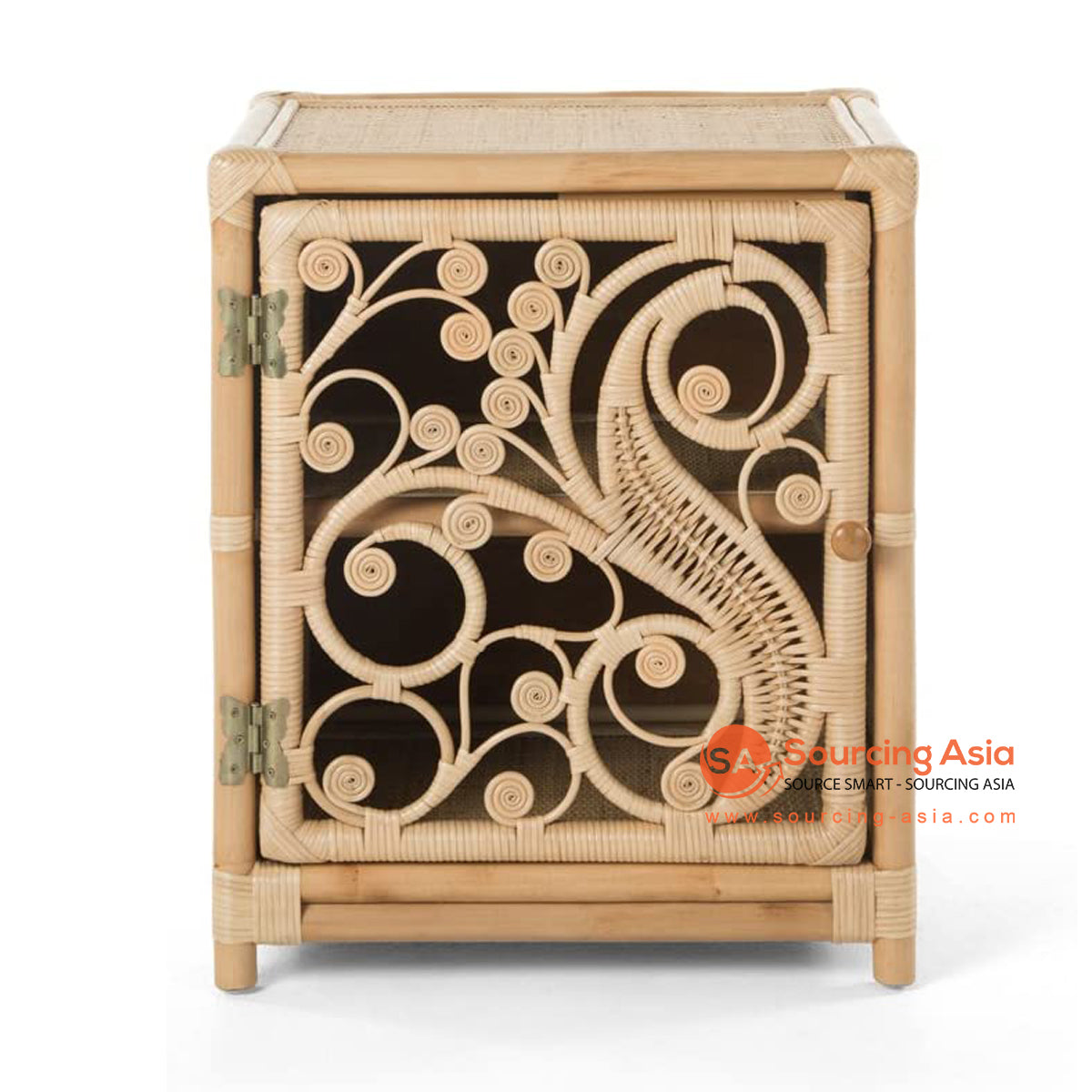 SHL200-2 NATURAL WOVEN RATTAN SIDE TABLE