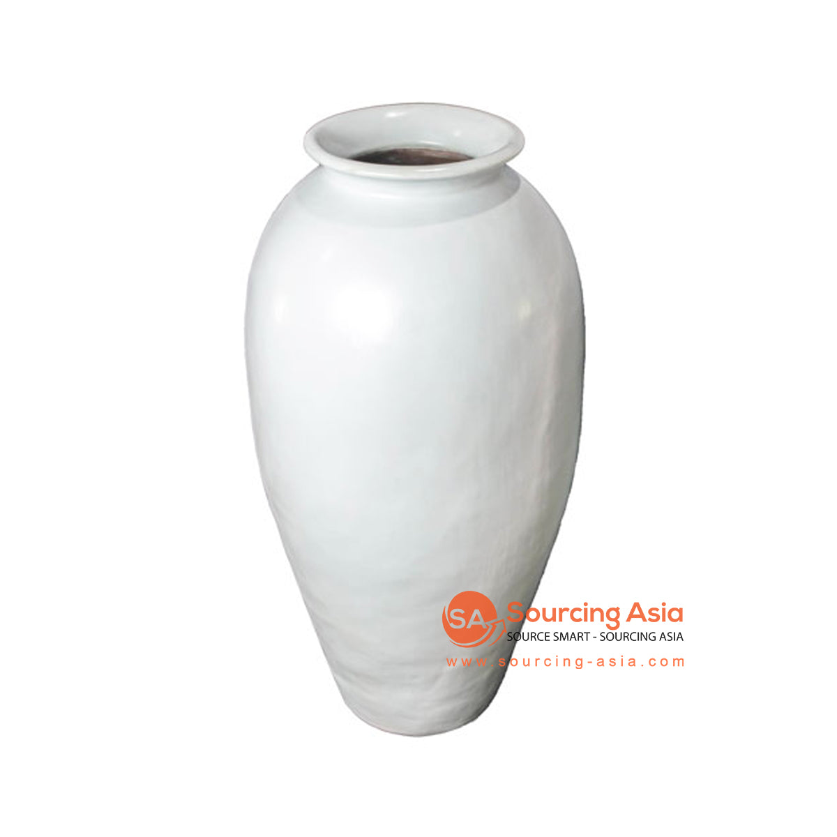 SHL207-9 WHITE TERRACOTTA VASE