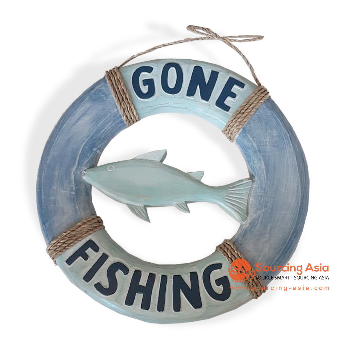 "SKH008 WOODEN DECORATION SIGN "" GONE FISHING"""