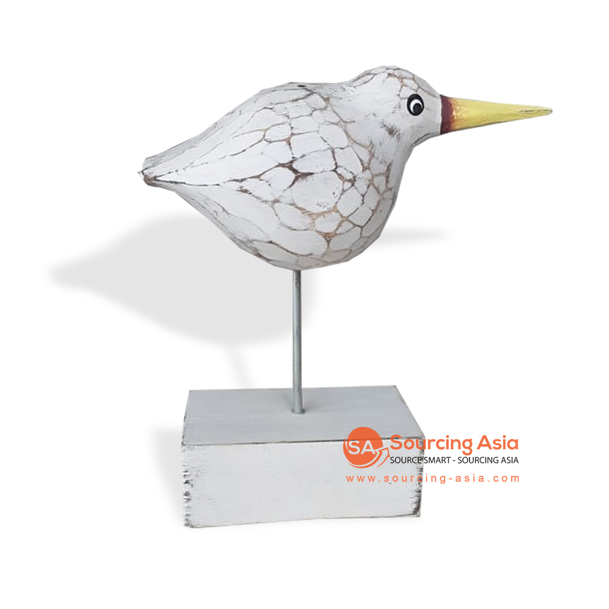SLG007 WOODEN BIRD ON STAND