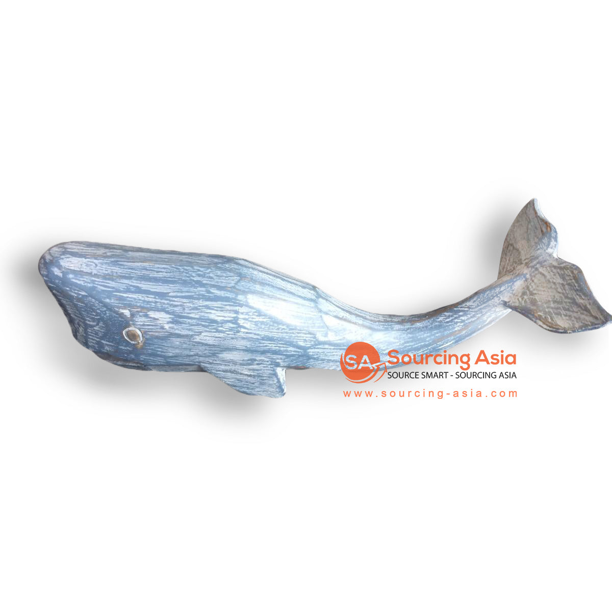 SLG014-1 WOODEN WHALE - BLUE