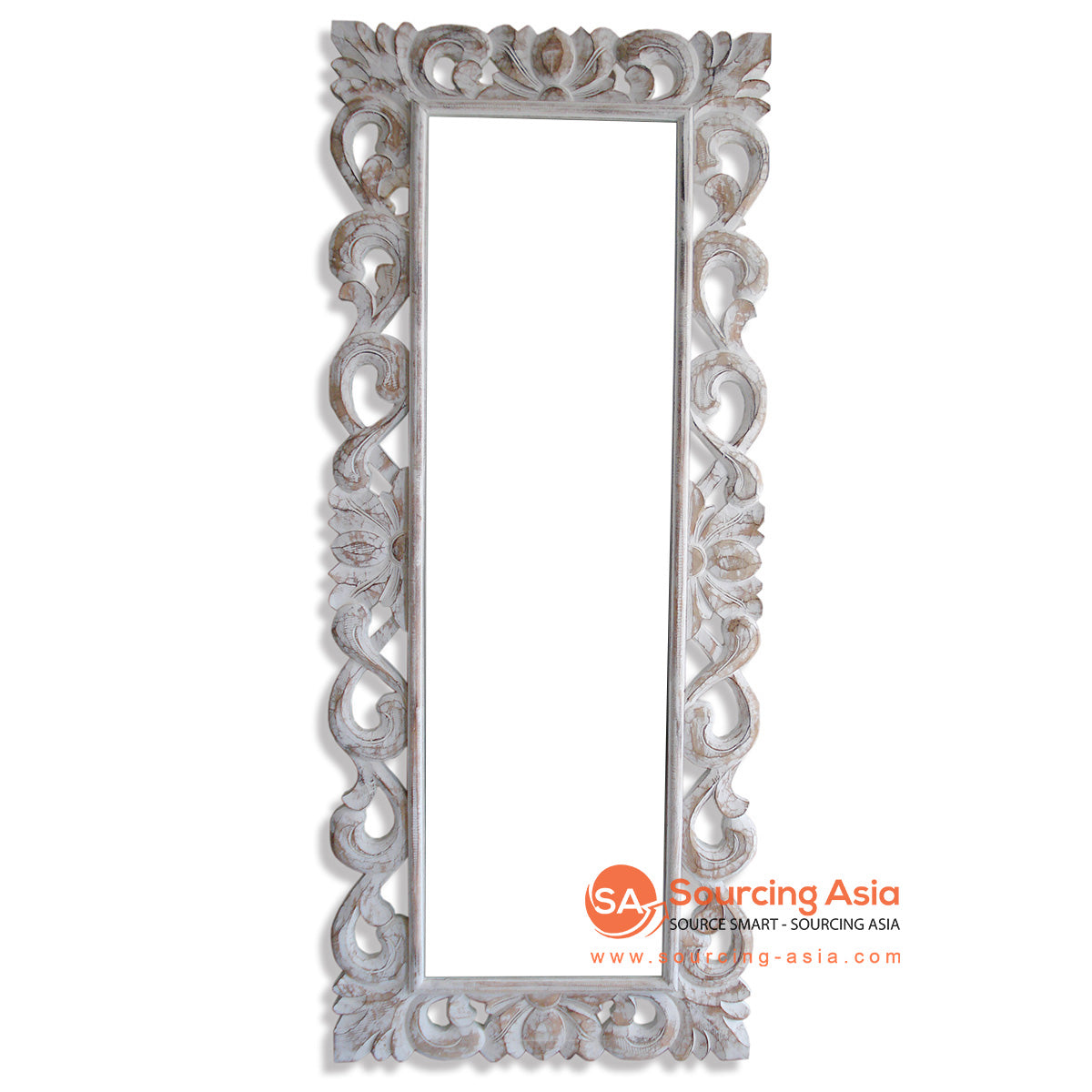 SSU004-DC WOODEN MIRROR WITH CARVING