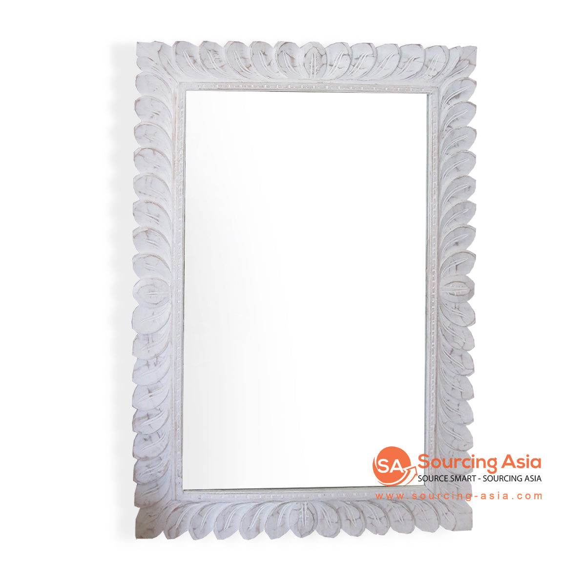 SSU019-70WW WOODEN MIRROR WITH CARVING