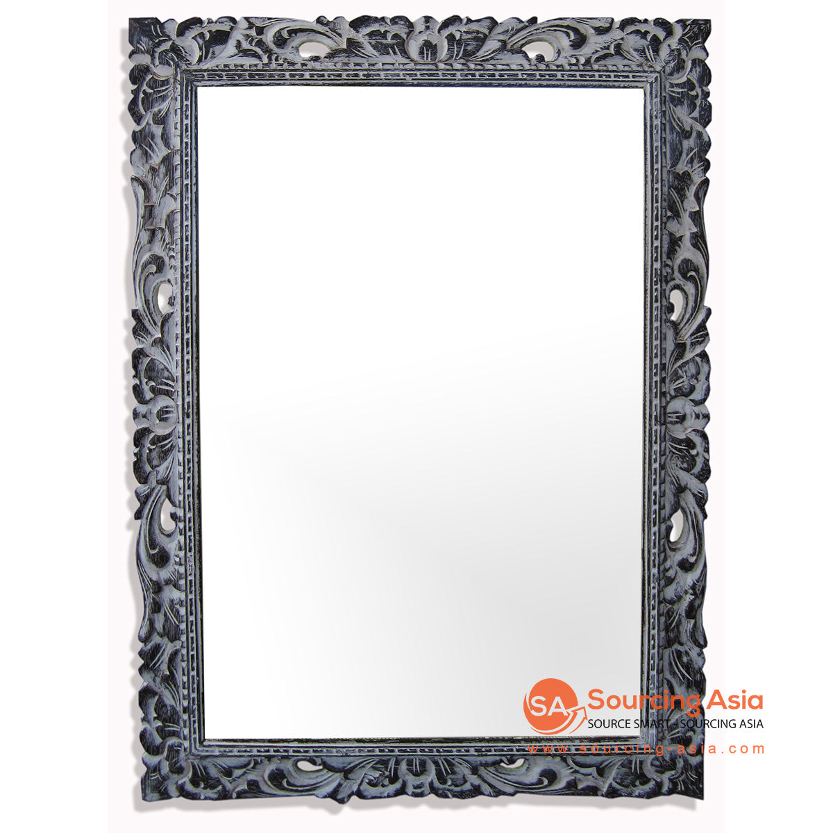 SSU022DB-60X80 WOODEN MIRROR WITH CARVING