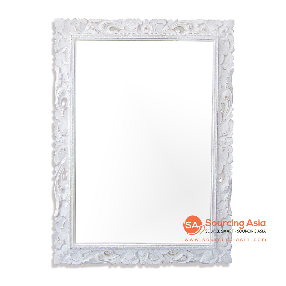 SSU022WW-60X80 WOODEN MIRROR WITH CARVING