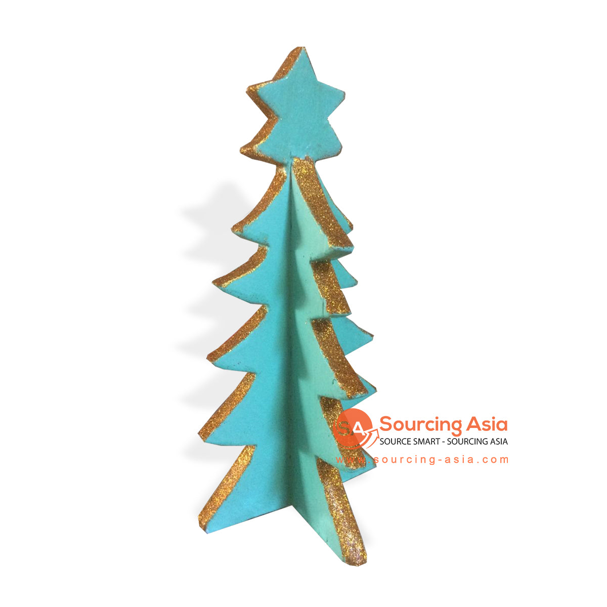 SUMAR091-1 WOODEN CHRISTMAS TREE GREEN