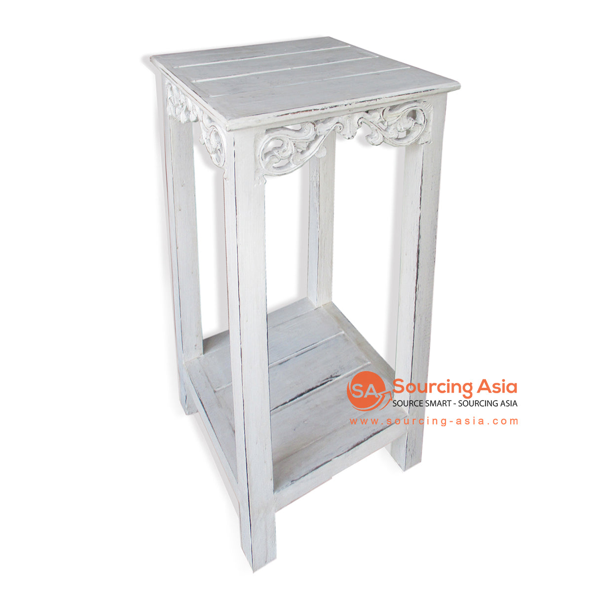 THE007M CONSOLE TABLE WHITE WASH