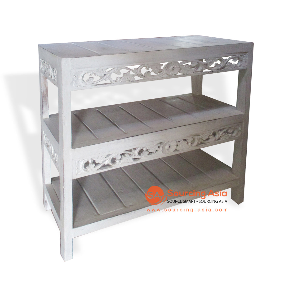THE020 DOUBLE CONSOLE TABLE WHITE WASH