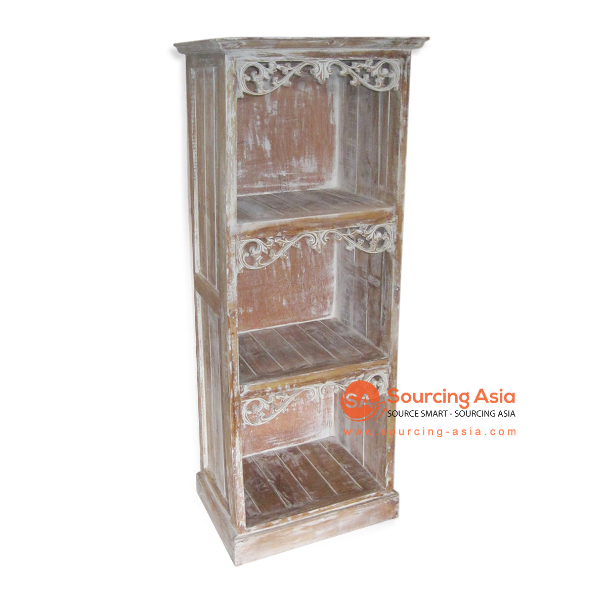 THE051-1 BOOK RACK WITH 3 SHELF BROWN WASH