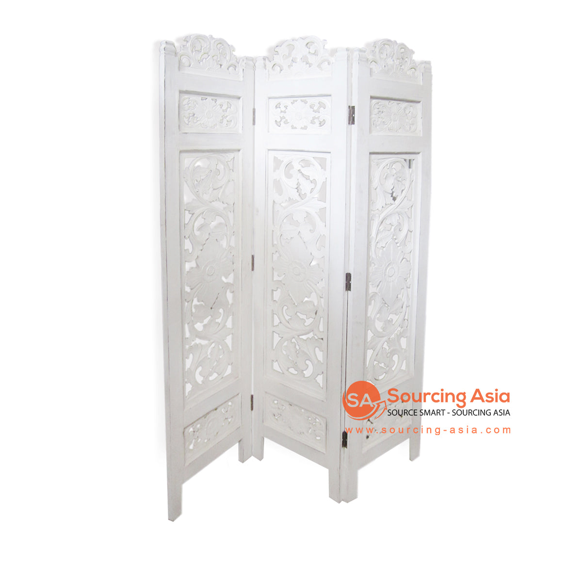 THE131WW SCREEN CARVING WHITE WASH