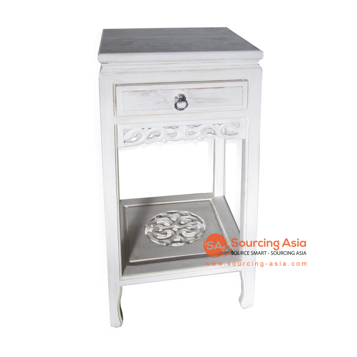 THE137WW PHONE TABLE WHITE WASH
