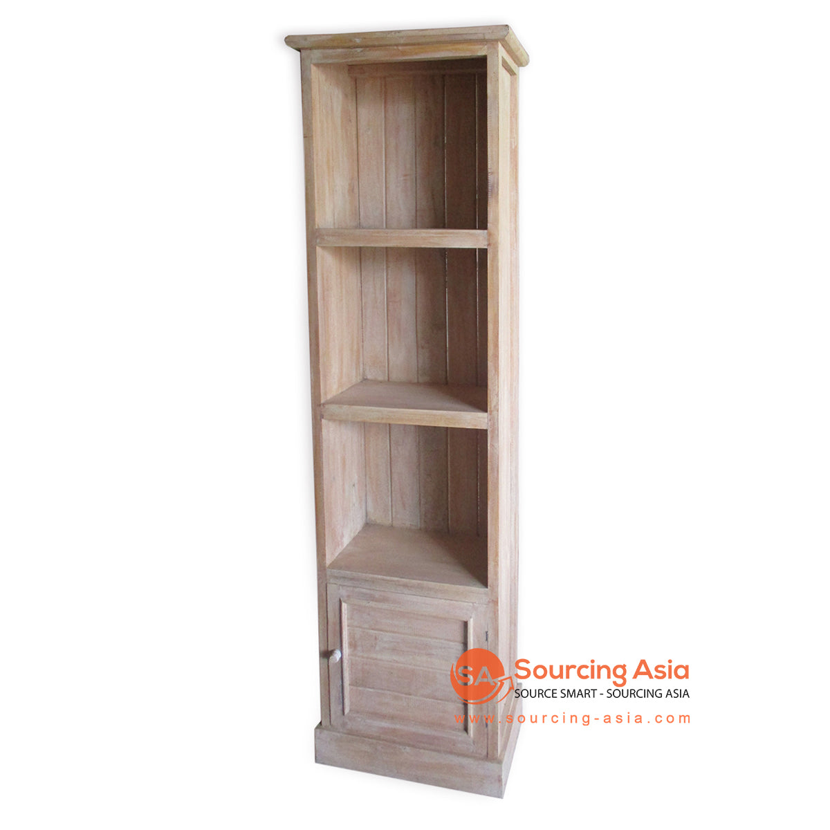 THE141BW BOOK RACK WITH 1 DRAWER BROWN WASH