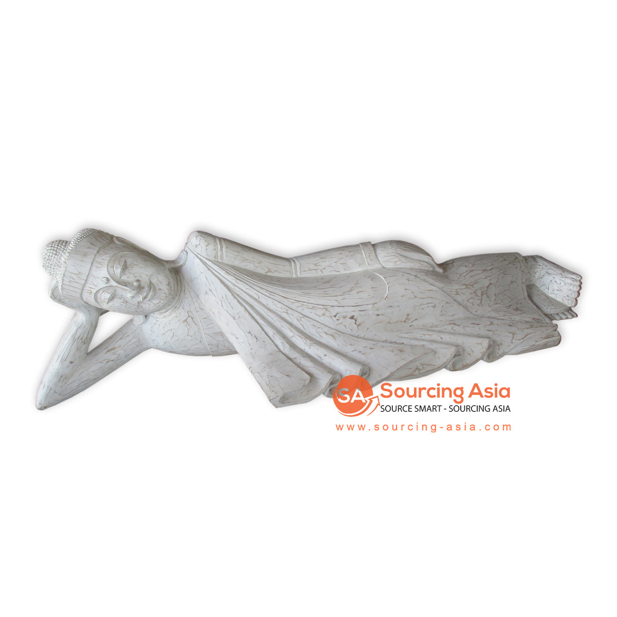 THE143XXL WHITEWASH SLEEPING BUDDHA WITH SIZE XXL