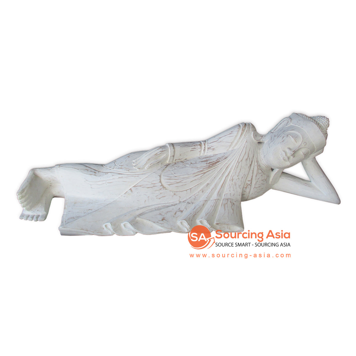 THE143 SLEEPING BUDDHA WITH WHITE WASH COLOR