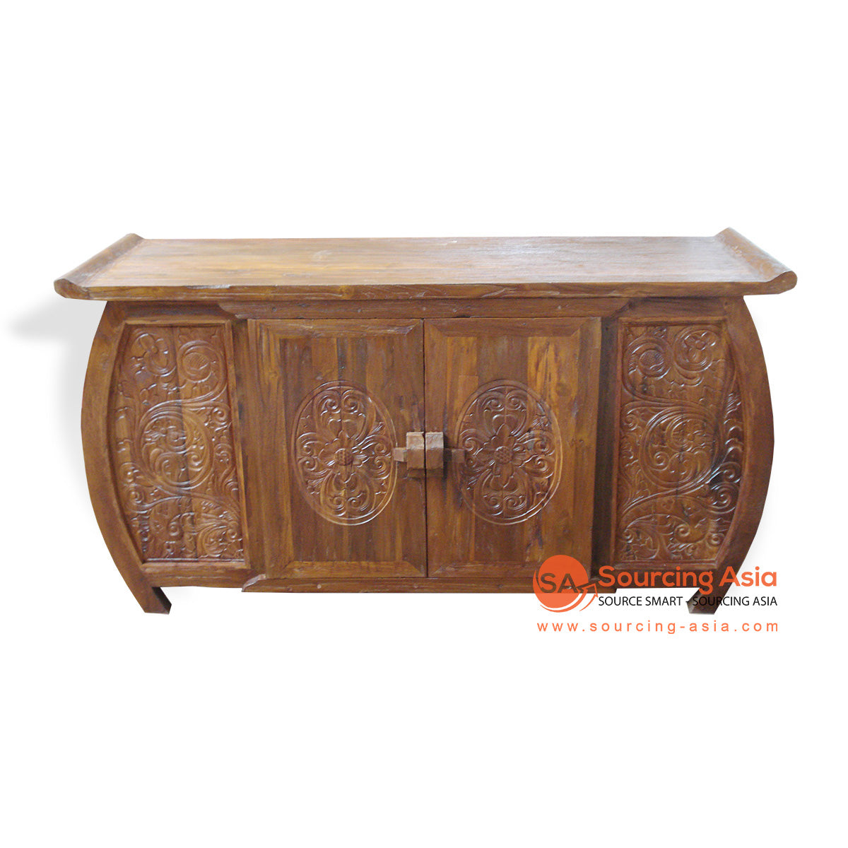 TR00174 CARVED CURVED BUFFET