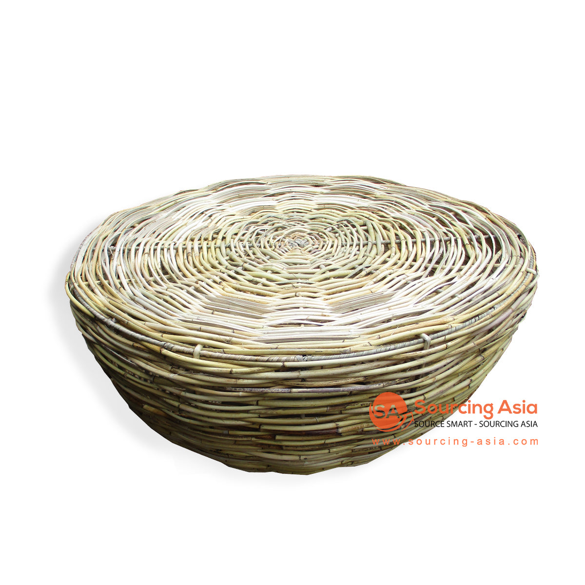 YBL059 ROUND KUBU RATTAN COFFEE TABLE
