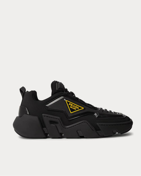 Segment Neoprene and Rubber  Black low top sneakers