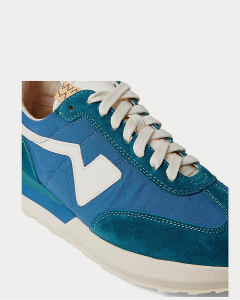 FKT Runner Suede- and Leather-Trimmed Nylon-Blend  Blue low top sneakers
