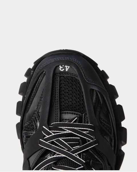 Track Nylon, Mesh and Rubber  Black low top sneakers