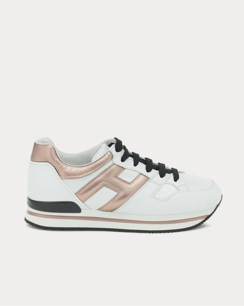 H222 leather Bianco  Low Top Sneakers