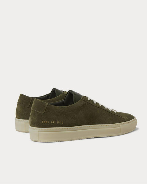 Achilles Suede  Green low top sneakers