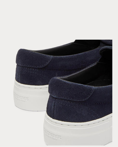 Garda Suede Slip-On  Navy slip on sneakers