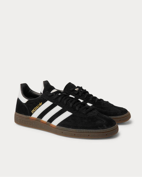 Handball Spezial Leather-Trimmed Suede  Black low top sneakers