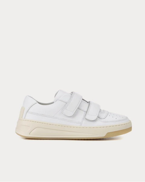 Steffey leather White Low Top Sneakers